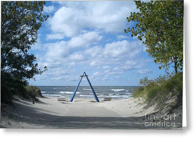 Greeting Cards - Deserted Beachfront Greeting Card by Ann Horn