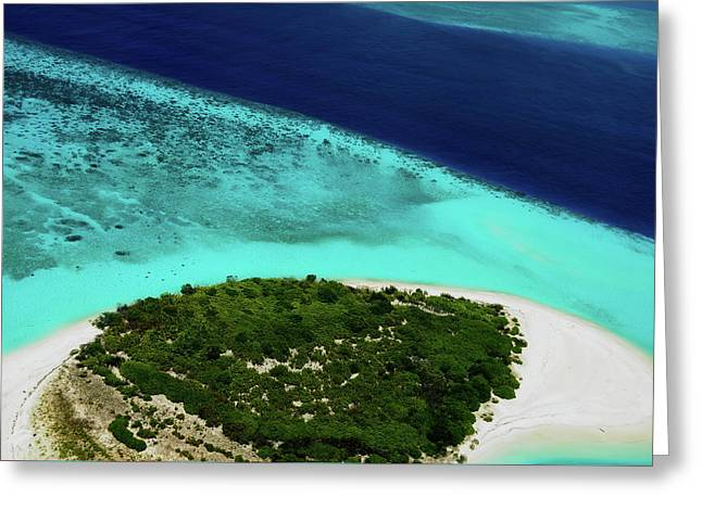 Deserted Coral Island. Maldives  Greeting Card by Jenny Rainbow