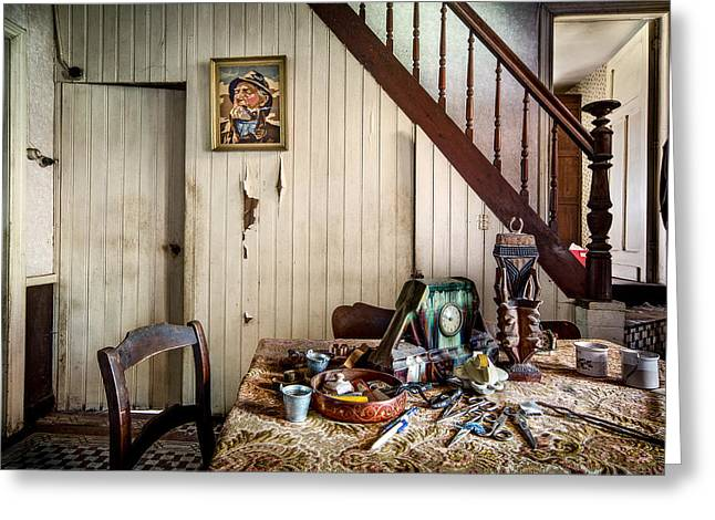 Ghost House Greeting Cards - Deserted Room In Abandoned House -urben Exploration Greeting Card by Dirk Ercken