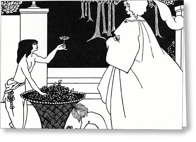 Design For The Yellow Book Greeting Card by Aubrey Beardsley