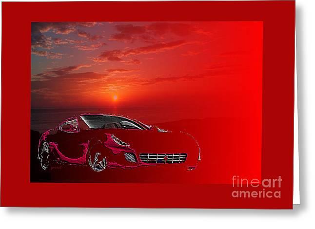 Extraordinary Designer's Dream Ferrari M2 Greeting Card by Johannes Murat