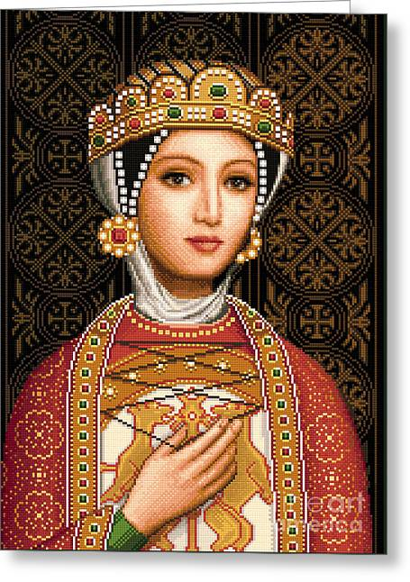 Medieval Tapestries - Textiles Greeting Cards - Desislava Greeting Card by Stoyanka Ivanova