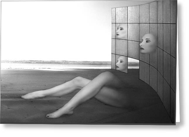 Desolate - Self Portrait Greeting Card by Jaeda DeWalt