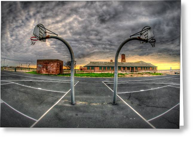 Basketballs Greeting Cards - Desolation Greeting Card by Mike  Deutsch