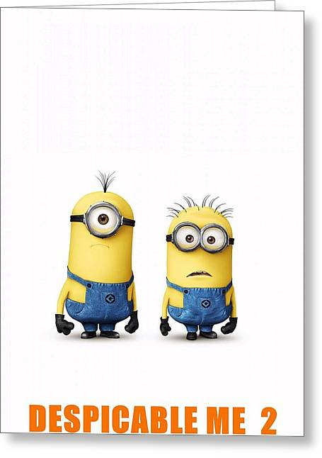 Motion Picture Poster Greeting Cards - Despicable Me 2  Greeting Card by Movie Poster Prints