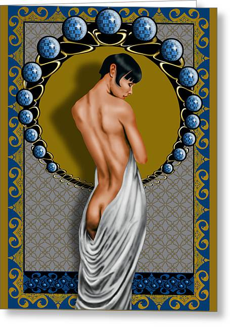 Dessin Lumiere Greeting Card by Troy Brown