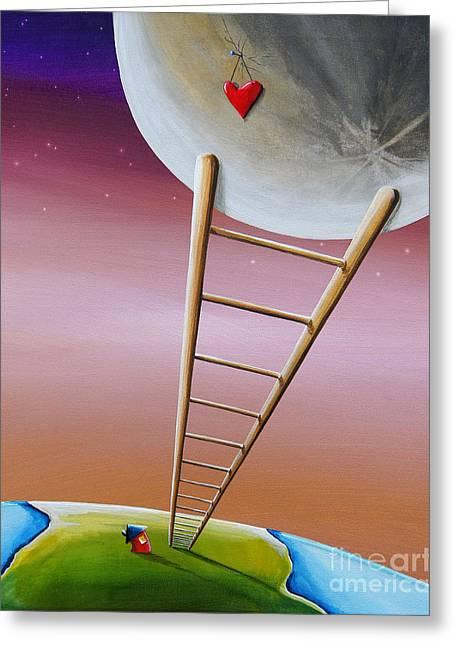 Destination Moon Greeting Card by Cindy Thornton