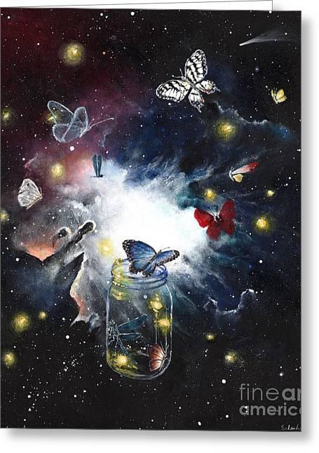 Destiny Emerging Greeting Card by Elizabeth Lachmann
