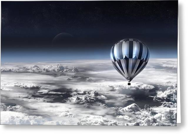 Space Clouds Greeting Cards - Destiny Greeting Card by Photodream Art