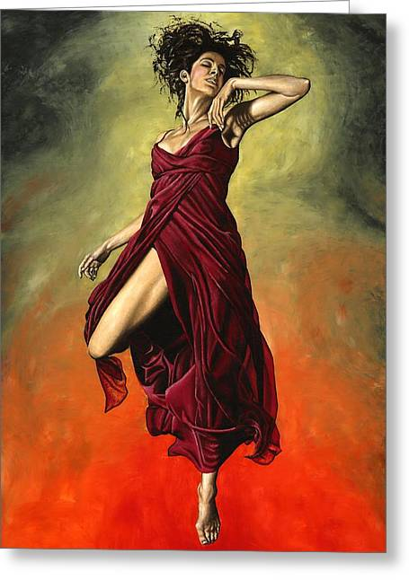 Modern Dance Greeting Cards - Destinys Dance Greeting Card by Richard Young
