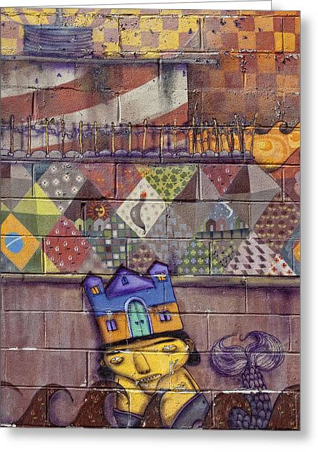 Detail - Mural Coney Island 2 Greeting Card by Robert Ullmann