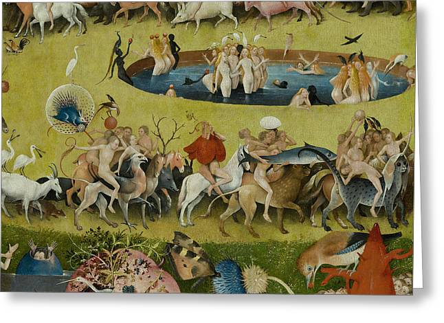 Detail From The Central Panel Of The Garden Of Earthly Delights Greeting Card by Hieronymus Bosch