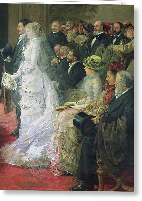 Detail From The Civil Marriage Greeting Card by Henri Gervex