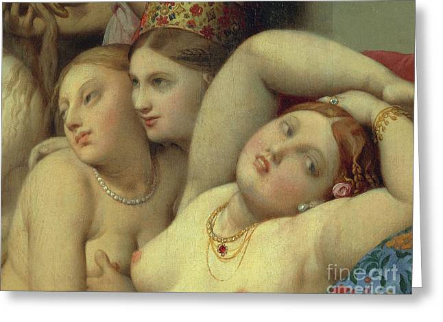 Detail From Turkish Bath Greeting Card by Jean Auguste Dominique Ingres