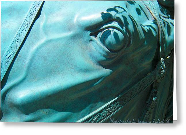 Forgotten Sculptures Greeting Cards - Detail Metal Horse Sculpture 11 Greeting Card by Tamara Kulish