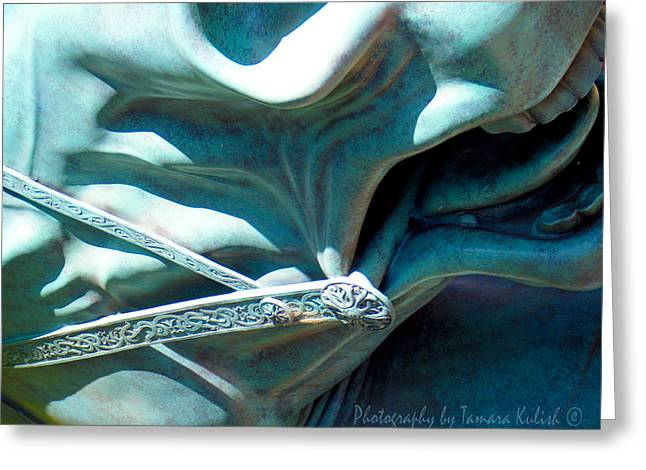 Forgotten Sculptures Greeting Cards - Detail Metal Horse Sculpture 9 Greeting Card by Tamara Kulish