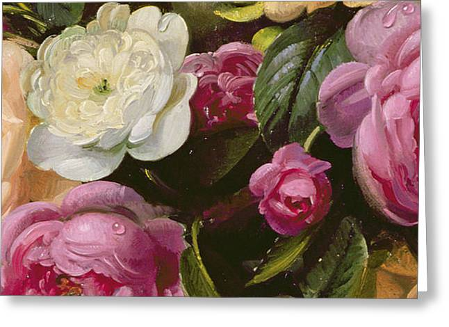 Samsung Greeting Cards - Detail of Full Blown Roses Greeting Card by Albert Williams