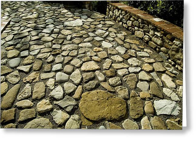 Chianti Greeting Cards - Detailed Image Of The Stone Patio Greeting Card by Todd Gipstein
