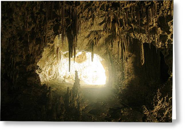 Cavern Greeting Cards - Details at Carlsbad Caverns Greeting Card by Brian M Lumley