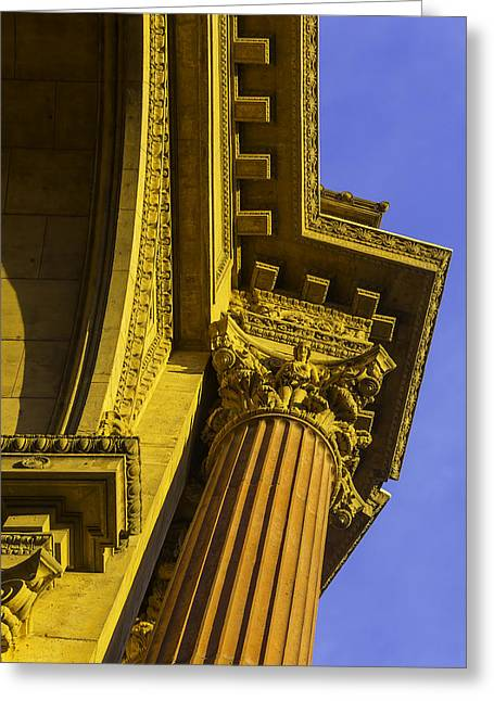 Details Palace Of Fine Arts Greeting Card by Garry Gay