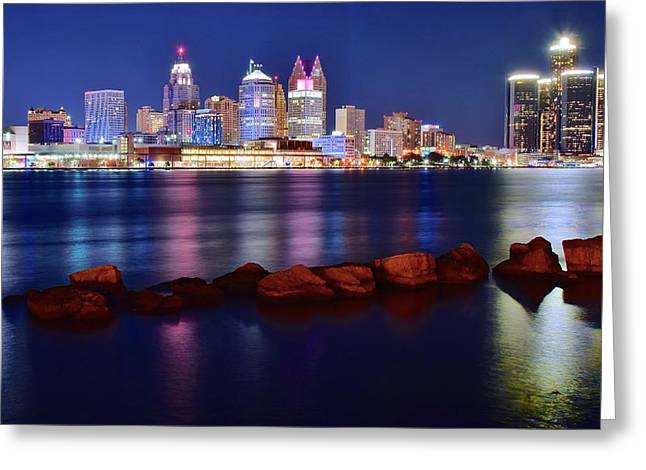 Detroit Alive And Well Greeting Card by Frozen in Time Fine Art Photography
