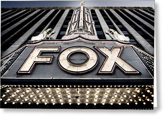 Theatres Greeting Cards - Detroit Fox Theatre Greeting Card by Alanna Pfeffer