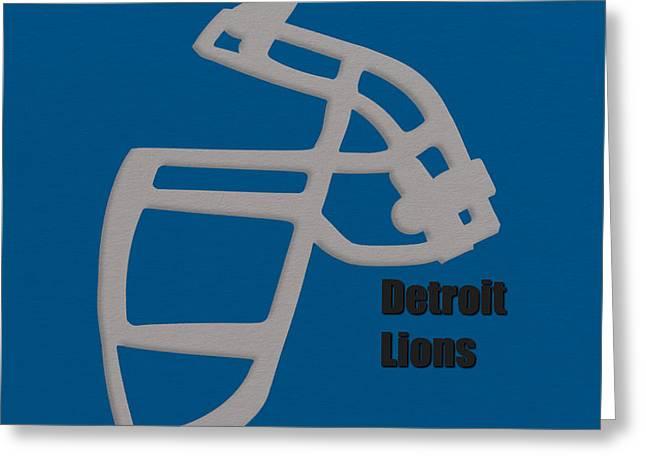 Detroit Lions Retro Greeting Card by Joe Hamilton