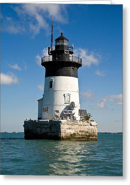 Jmp Photography Greeting Cards - Detroit River Light Greeting Card by James Marvin Phelps
