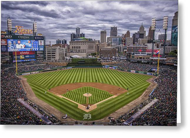 Detroit Tigers Comerica Park 4837 Greeting Card by David Haskett