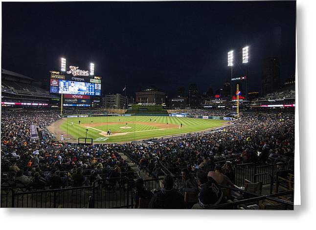 Boys Of Summer. Greeting Cards - Detroit Tigers Comerica Park Lower Level 1 Greeting Card by David Haskett