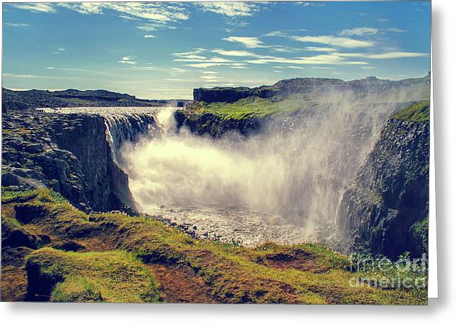 Dettifoss Waterfall, Iceland Greeting Card by Patricia Hofmeester