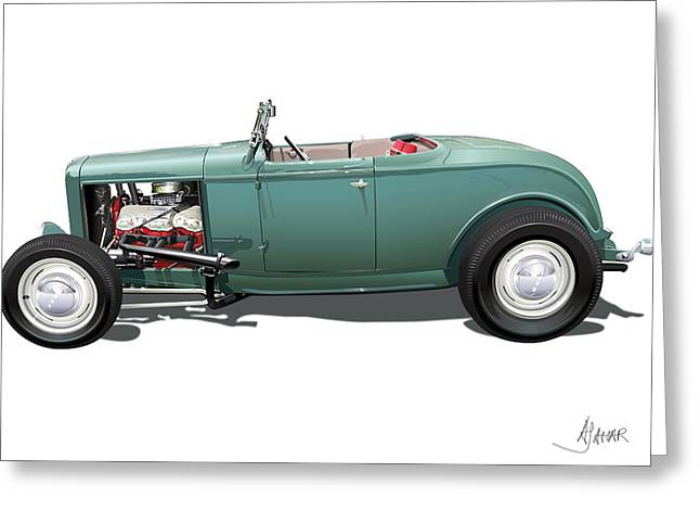 Ford Street Rod Greeting Cards - Deuce Greeting Card by Alain Jamar