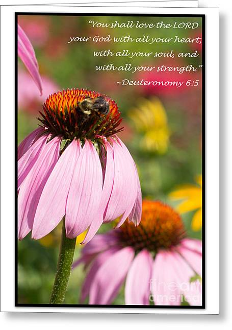 Souls Greeting Cards - Deuteronomy 6 5 Greeting Card by Victoria  Dauphinee
