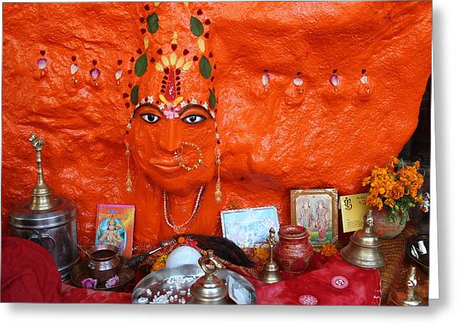 Devi Temple, Nanital Greeting Card by Jennifer Mazzucco