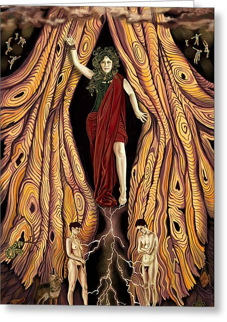 Goddess Print Greeting Cards - Devil Card Greeting Card by Pamela Wells