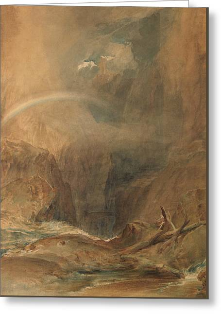 Devil's Bridge Saint Gotthard's Pass Greeting Card by Joseph Mallord William Turner