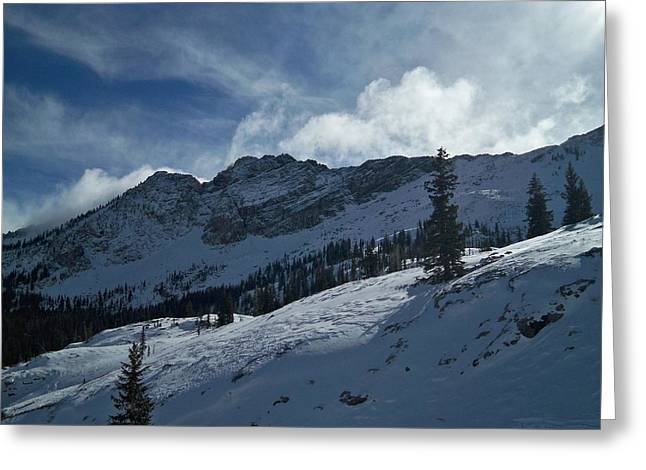 Ski Art Greeting Cards - Devils Castle Morning Light Greeting Card by Michael Cuozzo