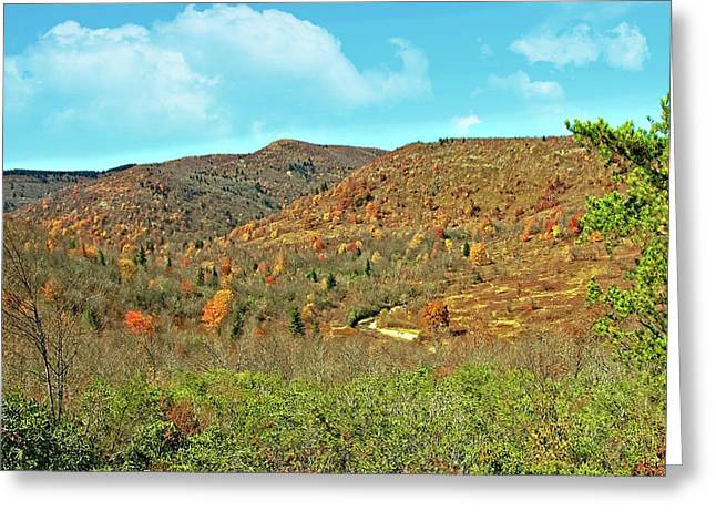Devils Courthouse Greeting Card by Susan Leggett