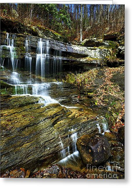 Devils Den Waterfall  Greeting Card by Thomas R Fletcher