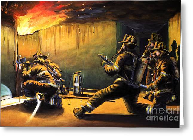 Firefighter Greeting Cards - Devils Doorway Ii Greeting Card by Paul Walsh