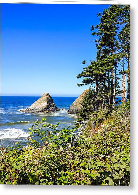 Outlook Greeting Cards - Devils Elbow Rock, Oregon Greeting Card by Chris Smith