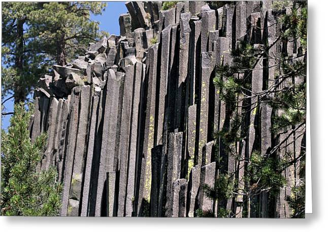 Devils Postpile National Monument - Mammoth Lakes - east California Greeting Card by Christine Till