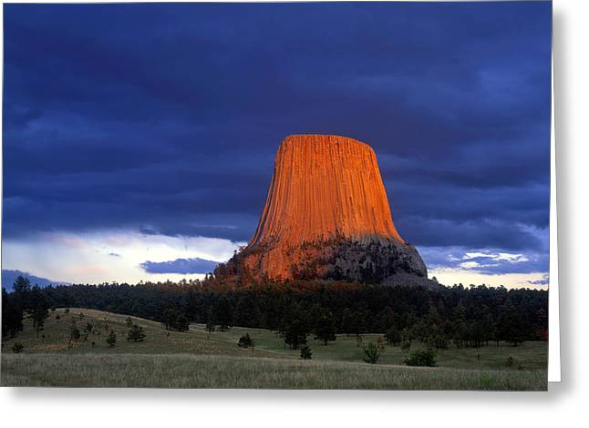 Recently Sold -  - Monolith Greeting Cards - Devils Tower #3 Greeting Card by Mike Norton