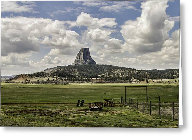 Geology Photographs Greeting Cards - Devils Tower Greeting Card by Phyllis Taylor