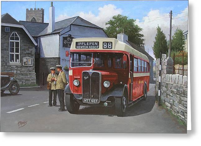 Bus Greeting Cards - Devon General AEC Regal. Greeting Card by Mike  Jeffries