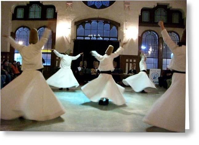 Istanbul Mixed Media Greeting Cards - Devotion Greeting Card by Sunaina Serna Ahluwalia