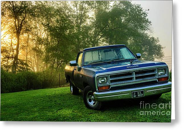 Dew-covered Dodge Ram 100 Greeting Card by Thomas R Fletcher
