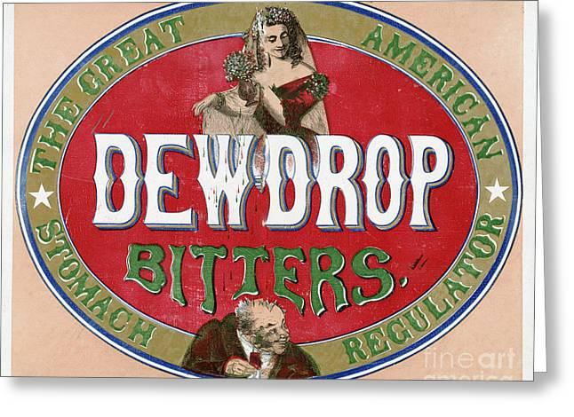 Dew Drop Bitters Vintage Product Label Greeting Card by Vintage