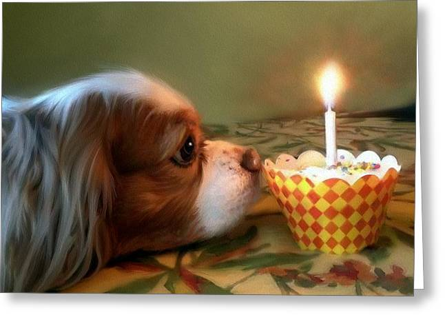 Candle Lit Greeting Cards - Deweys Wish... Greeting Card by Mark Tonelli