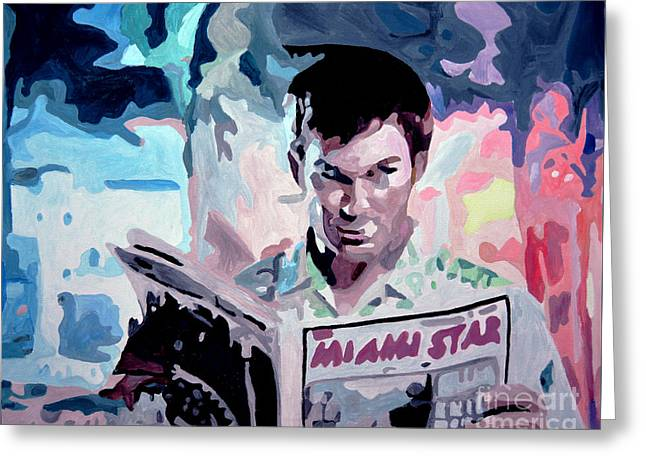 Dexter Morgan Greeting Card by Anastasiia Antonova